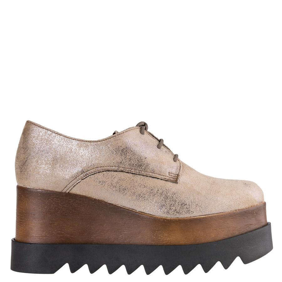 FLATFORM OXFORD Envie Shoes Ασημί 2426 ⋆ egynaika.gr dd2ce25fa7f