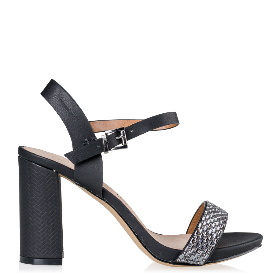 373c73c42c28 ANKLE STRAP SANDALS Miss NV Μαύρο 7010 ⋆ egynaika.gr