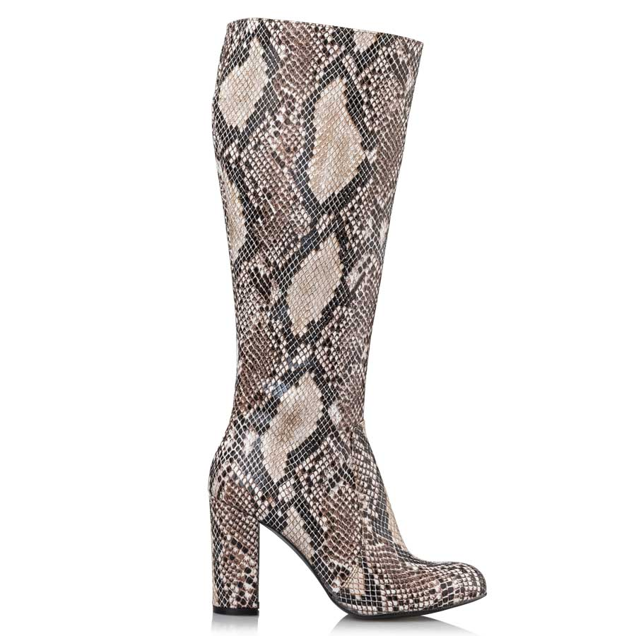 8b350177f80 SNAKE PATTERNED BOOTS