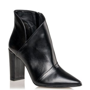 V CUT ANKLE BOOTS